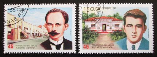 Poštovní známky Kuba 1998 Útok na kasárny Moncada Mi# 4133-34