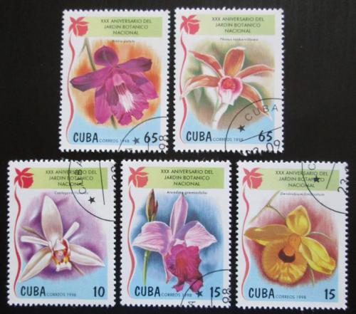 Poštovní známky Kuba 1998 Orchideje Mi# 4144-48