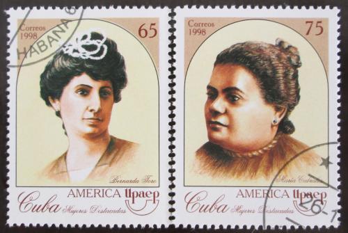 Poštovní známky Kuba 1998 Amerika - slavné ženy Mi# 4154-55