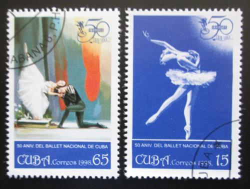 Poštovní známky Kuba 1998 Státní balet, 50. výroèí Mi# 4160-61