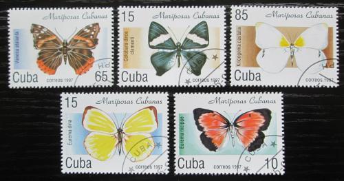 Poštovní známky Kuba 1997 Motýli Mi# 4014-18