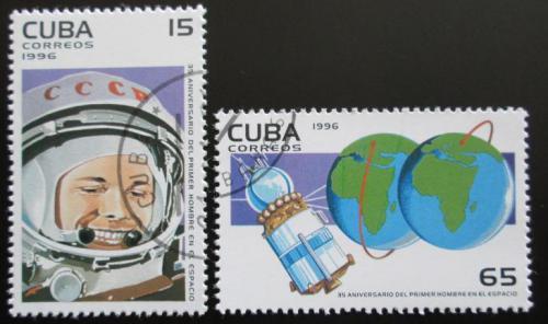 Poštovní známky Kuba 1996 Jurij Gagarin Mi# 3916-17