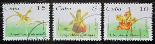 Poštovní známky Kuba 1996 Orchideje Mi# 3932-34