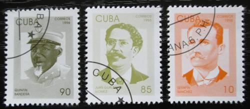 Poštovní známky Kuba 1996 Patrioti Mi# 3936-38