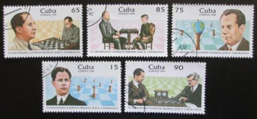 Poštovní známky Kuba 1996 José Raúl Capablanca, šachy Mi# 3954-58