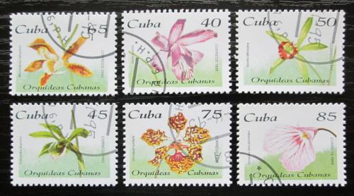 Poštovní známky Kuba 1995 Orchideje Mi# 3860-65