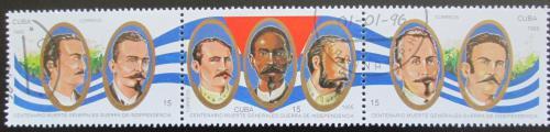 Poštovní známky Kuba 1995 Generálové Mi# 3878-80