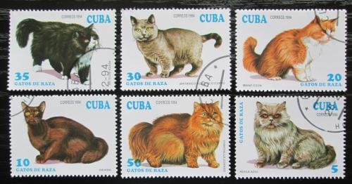 Poštovní známky Kuba 1994 Koèky Mi# 3730-35