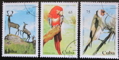 Poštovní známky Kuba 1994 Fauna Mi# 3788-90