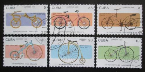Poštovní známky Kuba 1993 Historická kola Mi# 3670-75