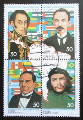 Poštovní známky Kuba 1993 Revolucionáøi Mi# 3707-10