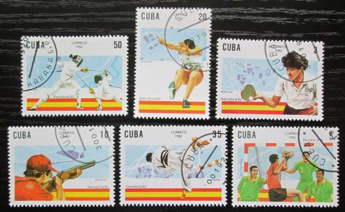 Poštovní známky Kuba 1992 LOH Barcelona Mi# 3547-52