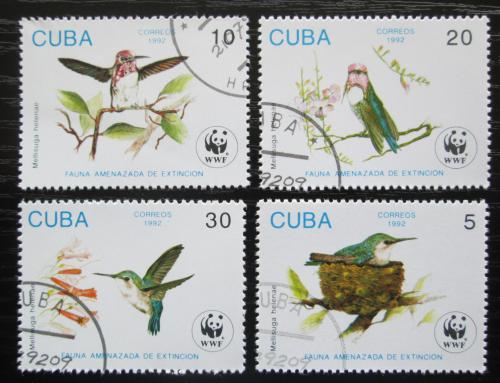 Poštovní známky Kuba 1992 Kalypta nejmenší, WWF Mi# 3589-92