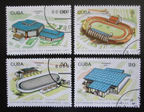 Poštovní známky Kuba 1991 Sportovištì Mi# 3504-07