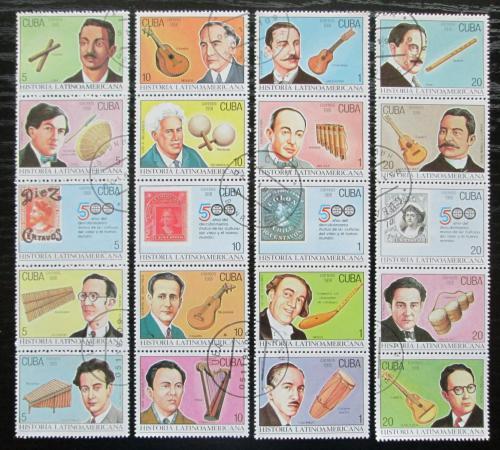 Poštovní známky Kuba 1991 Hudebníci a hudební nástroje Mi# 3521-40