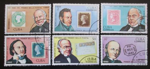 Poštovní známky Kuba 1990 Rowland Hill, první známky Mi# 3382-87