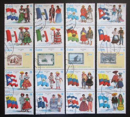 Poštovní známky Kuba 1990 Vlajky a kroje Mi# 3418-37