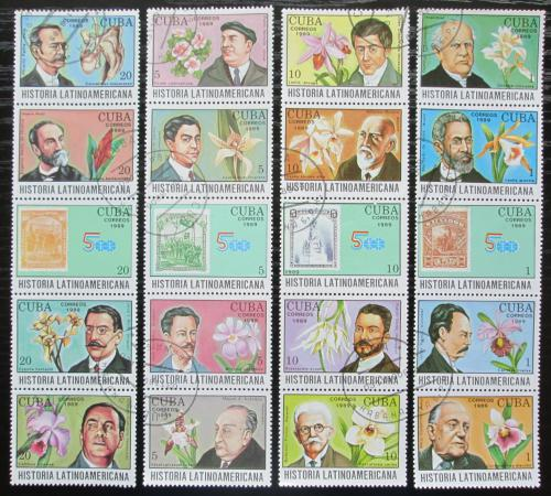 Poštovní známky Kuba 1989 Spisovatelé a orchideje Mi# 3314-33