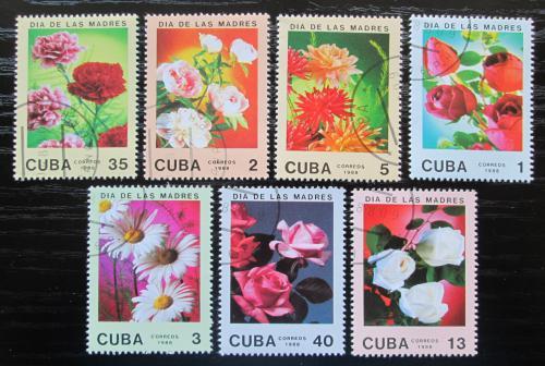 Poštovní známky Kuba 1988 Kvìtiny, Den matek Mi# 3166-72