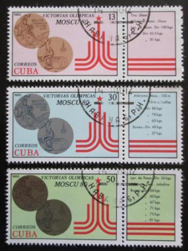 Poštovní známky Kuba 1980 LOH Moskva Mi# 2515-17