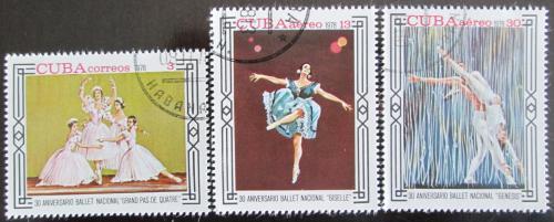 Poštovní známky Kuba 1978 Národní balet Mi# 2353-55