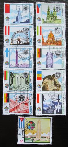 Poštovní známky Kuba 1978 Hlavní mìsta a vlajky Mi# 2318-28