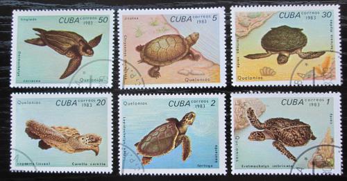 Poštovní známky Kuba 1983 Želvy Mi# 2766-71