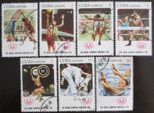 Poštovní známky Kuba 1976 LOH Montreal Mi# 2135-41
