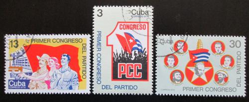 Poštovní známky Kuba 1975 Sjezd komunistické strany Mi# 2099-2101
