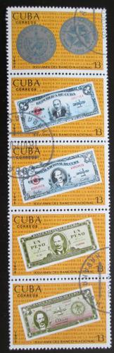 Poštovní známky Kuba 1975 Zestátnìní národní banky Mi# 2080-84