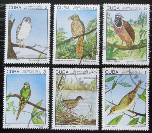 Poštovní známky Kuba 1975 Ptáci Mi# 2057-62