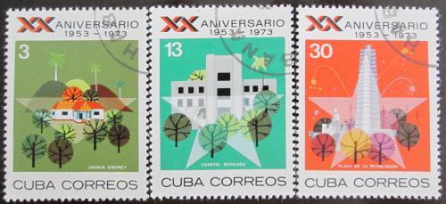 Poštovní známky Kuba 1973 Výroèí revoluce Mi# 1887-89