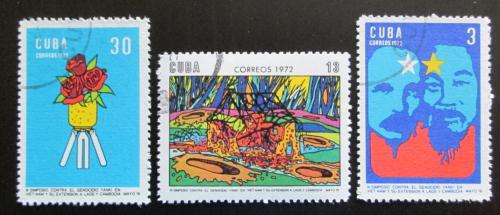 Poštovní známky Kuba 1972 Válka ve Vietnamu Mi# 1770-72