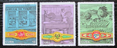 Poštovní známky Kuba 1970 Pìstování tabáku Mi# 1606-08