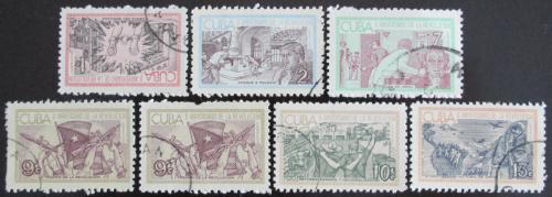 Poštovní známky Kuba 1963 Kubánská revoluce Mi# 852-58