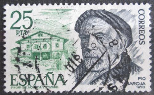 Poštovní známka Španìlsko 1978 Pío Baroja, básník Mi# 2350