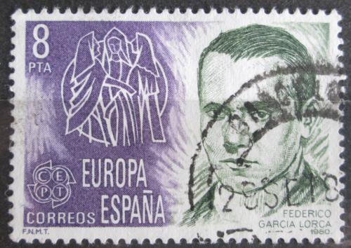 Poštovní známka Španìlsko 1980 Federico García Lorca, básník Mi# 2460