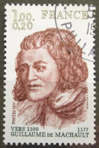 Poštovní známka Francie 1977 Guillaume de Machault, básník Mi# 2053