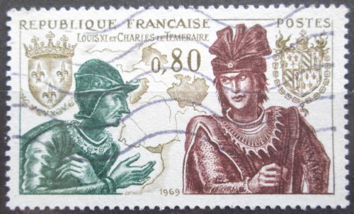 Poštovní známka Francie 1969 Král Ludvík XI. Mi# 1688