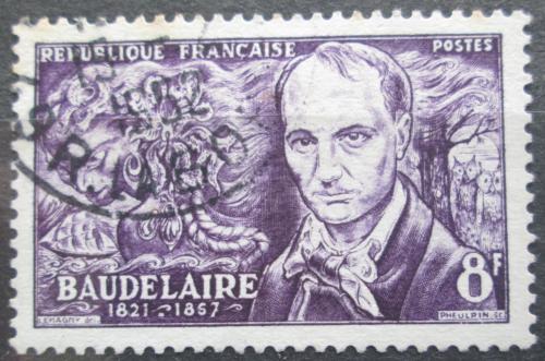 Poštovní známka Francie 1951 Charles Baudelaire, básník Mi# 926