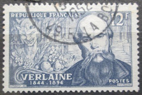 Poštovní známka Francie 1951 Paul Verlaine, básník Mi# 927