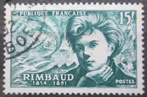 Poštovní známka Francie 1951 Arthur Rimbaud, básník Mi# 928
