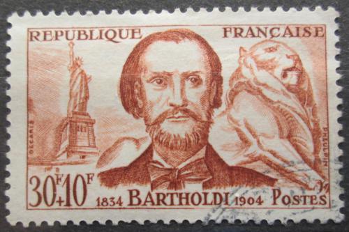 Poštovní známka Francie 1959 Frédéric Auguste Bartholdi, sochaø Mi# 1256