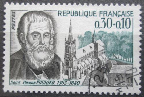 Poštovní známka Francie 1966 Pierre Fourier, knìz Mi# 1536