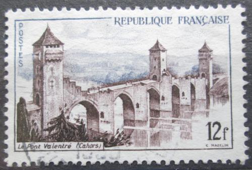 Poštovní známka Francie 1955 Most Valentré Mi# 1067
