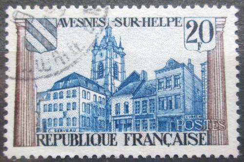 Poštovní známka Francie 1959 Architektura, Avesnes-sur-Helpe Mi# 1268