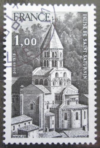 Poštovní známka Francie 1978 Kostel v Auvergne Mi# 2109