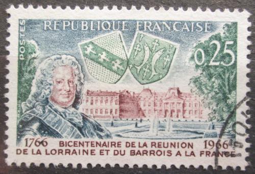 Poštovní známka Francie 1966 Zámek Lunéville Mi# 1545