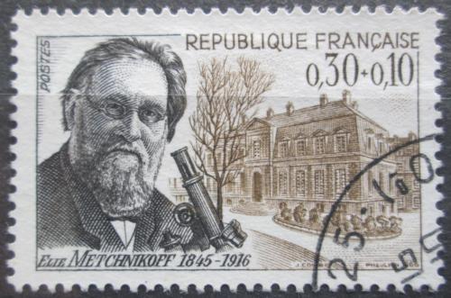 Poštovní známka Francie 1966 Ilja Iljiè Meènikov, zoolog Mi# 1554