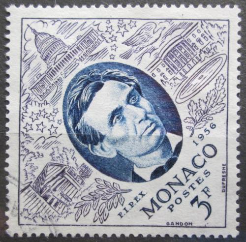 Poštovní známka Monako 1956 Prezident Abraham Lincoln Mi# 529
